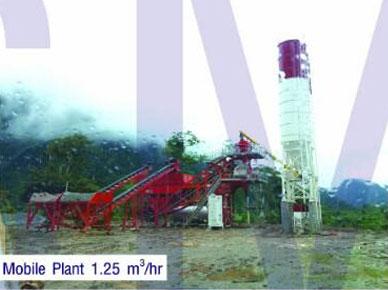 Mobile Plant 1.25 m<sup>3</sup>/hr