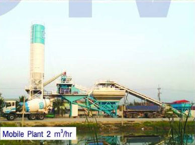 Mobile Plant 2 m<sup>3</sup>/hr